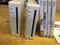 Wii console and wii fit and games