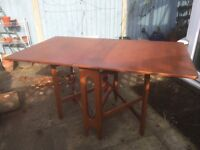 Drop-leaf dining table, mid-century, modernist, British, desk