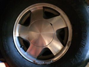 """i have 4 aluminum factory 16""""rims off a 1991 gmc truck for sale"""