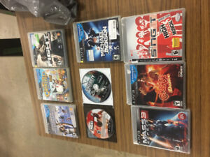 lot of 9 ps3 games call of duty black ops nba 2k11 mass effect 3