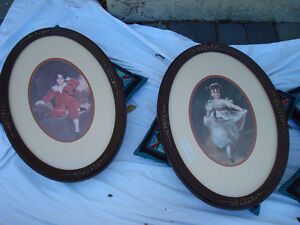 Master Lambton & Miss Murray Oval Framed Prints