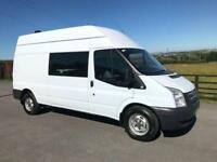 2012 12 FORD TRANSIT 2.2 350 100 T350 MESS UNIT 8 SEATER DIESEL