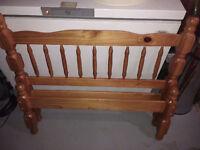 Twin headboard and footboard and rails