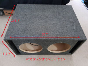 Custom Ported Speaker Box - Built for 2 x JL 12w7