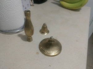 Solid Brass unscrewable candle holder.