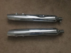 Harley Davidson Street glide stock exhaust pipes