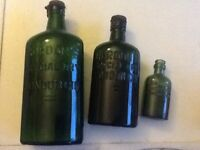 Vintage Antique Gordon's Gin Bottles