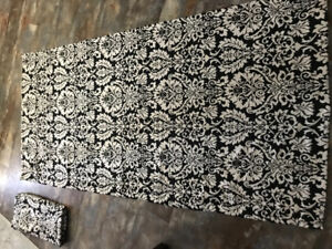 Designer High Quality Damask Curtain Panels Damask Curtain Panel