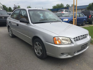 2002 Hyundai Accent**ONLY 61 000 KM & CERTIFIED**