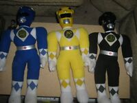 MIGHTY MORPHIN POWER RANGERS PLUSH TOY LOT