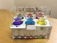 Set of 6 Glass cups (NEW)!