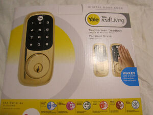 BRAND NEW IN BOX YALE TOUCH SCREEN DEADBOLT