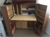 Bureau/Study Desk On Casters