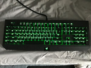 Razer blackwidow ultimate keyboard 2016 in box used once
