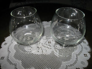 ..JUST TWO PIECES of CLEAR GLASS STEMWARE...