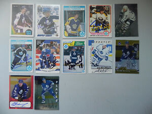 Lot of 12 Toronto Maple Leafs Hockey Autographed Cards.