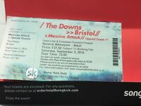 4 tickets to see Massive Attack plus guests at The Downs, Bristol.