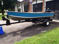 12FT Princecraft/7.5 Mercury Outboard and Trailer