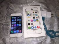 Iphone 5s  silver 16 gb locked to Rogers network