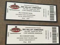 DISCOUNTED** - ONE Big Valley Jamboree 3 day concert pass