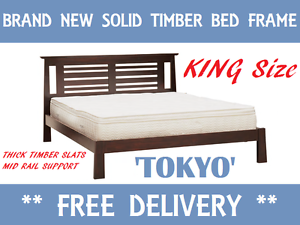 DELIVERED FREE Brand New KING Size Bed Frame SOLID TIMBER New Farm Brisbane North East Preview