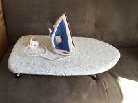 Iron and Table-top ironing board