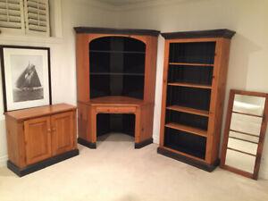 """Five piece """"Woodcraft"""" pine office/bedroom set"""
