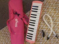 Pink Stagg melodica - as new