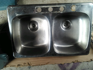 *Reduced* Double Stainless Steel Sink