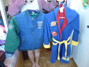 Disney Store Jacket Size 8/9 and McQueen Rope for 8-9 yr-old-boy