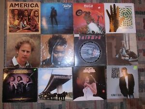 Vinyl records, rock from 70's-80's
