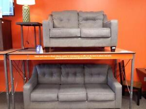 *** USED *** ASHLEY BRINDON CHARCOAL SOFA/LOVE   S/N:51245450   #STORE587