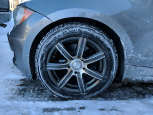 BMW 1 series snow tires and alloy rims