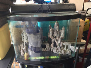 28 gal. Bow front Fish tank and stand