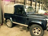 Landrover 90 pick up 08 reg decent spec. Private plate not included.
