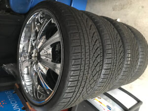 "22"" TIS Rims and Tires (4) Bolt pattern 5x120"