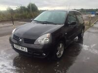 Bargain Renault Clio 1.2, long MOT, low miles FSH with recent timing belt