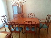 Antique Solid Maple Wood Dining Room Set REDUCED