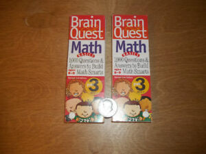 Brain Quest-Math basics,deck 1&2-For the car,1&2+ages 7 to 12