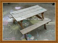 Kids Wood Picnic Table Starting at $100.00