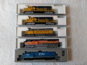 Assorted N Scale locomotives
