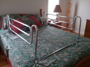Safety handrails for twin bed