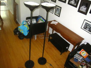 Pair of black standing lamps $25 as is