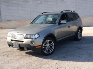 2008 BMW X3 PANORAMIC ROOF, LEATHER, HEATED WHEEL, SEATS,