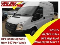 2014 FORD TRANSIT LWB 300 High Roof 125ps [FWD]