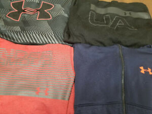 4 New UnderArmour Hoodies XL/TG (Loose L/G): 2 Storm + 2 Thermal