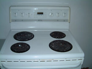 30 inch. wide electric stove.