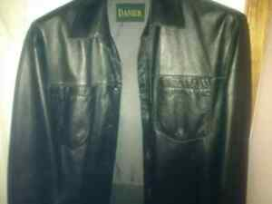 Danier button up leather shirt. Very rare!