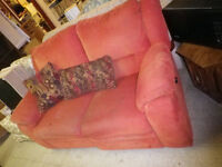 FAPO: Dusty Rose Coloured Lazy Boy 2 Seater Couch