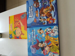 3 big story books Disney and Caillou